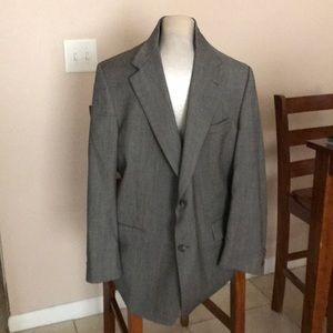 Single breasted 2 button Gray Suit Jacket